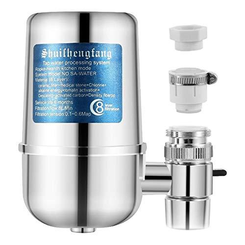 Filtro de Agua del Grifo,Purificador de Agua para grifos de Cocina con Material Ultra Absorbente, se Adapta a grifos estándar