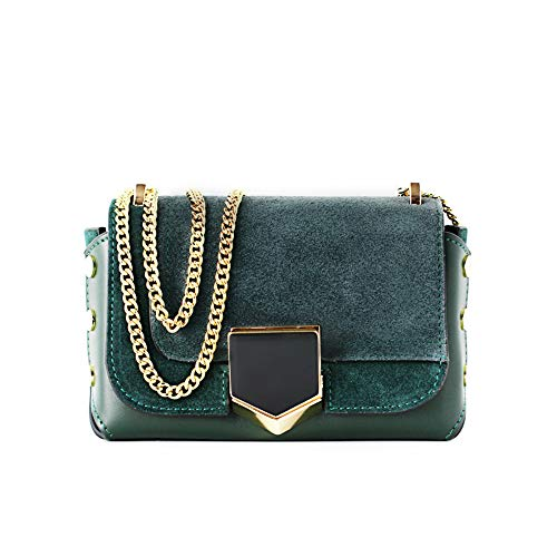 Fashion trend spring and summer new Korean chain small bag female hit color leather shoulder messenger small square bag mini female bag