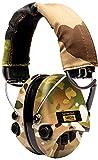 Sordin Supreme Pro X LED Cascos - Auriculares Ultrafinos Electrónicos | Orejeras de Protección Auditiva | Diseño Extraplano para Cazadores - Tiradores y Aficionados a la Caza - SOR75302-X-08
