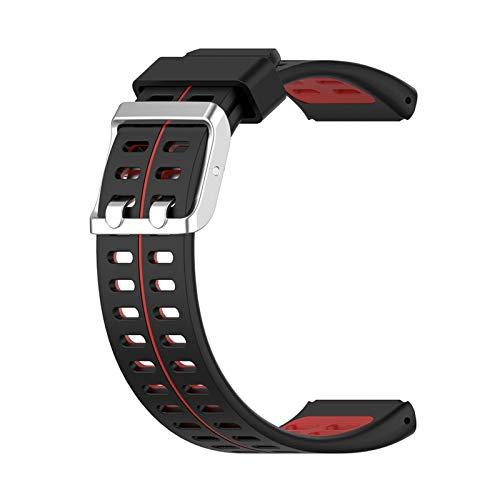 LXF JIAJU Reloj De Pulsera De Reloj De Reemplazo De Mujeres para Hombres Reloj De Reloj De Moda De Moda para Polar V800 Pulsera Inteligente Correa De Muñeca (Color : Black Red)