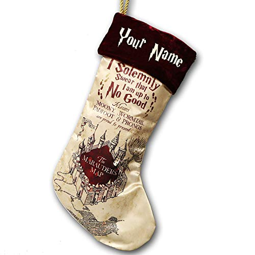 Harry Potter inspired Christmas sack stocking muggle wizard santa personalised personalized