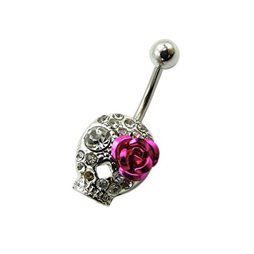 juily Creative Totenkopf Design NABELKLEMME Nail Body Bauch Ring