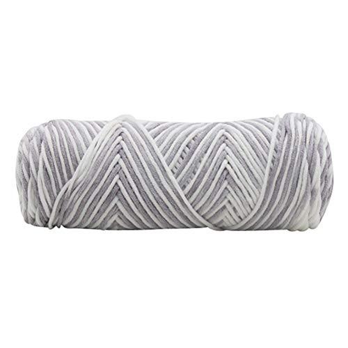 Mrjg Rosen 100g Chunky Roving Schal Knit Yarn Thickness Warmer Hut Haushalts Yarn Knit Thick Cold Winter Cotton weiß (Color : 4)