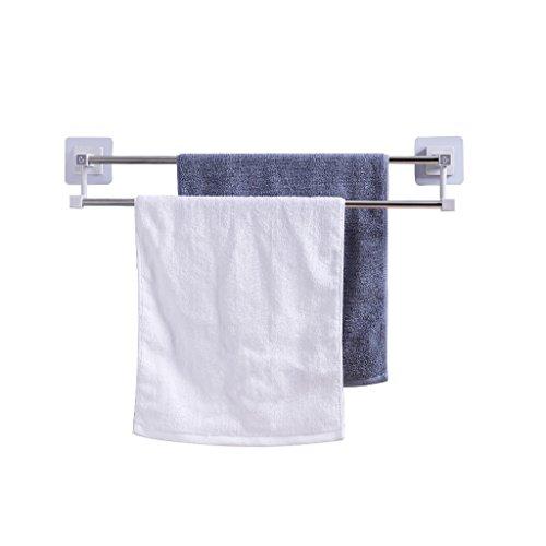 NYSCJJJ Barra de Toalla autoadhesiva, Inodoro de baño de 24 Pulgadas Toallero de Cocina, toallero de Doble Barra