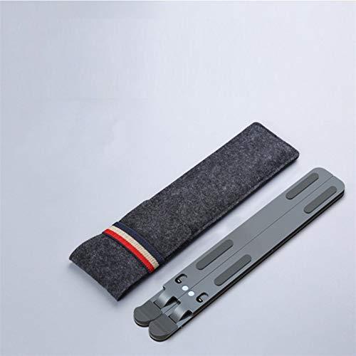 PPLAE 11-17 Pulgadas de refrigeración Plegable ángulo Ajustable aleación de Aluminio Escritorio de Escritorio Oficina Oficina Universal Universal Antideslizante Soporte portátil (Color : Deep Gray)