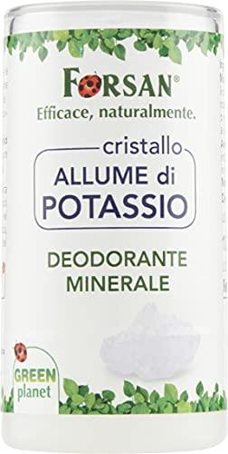 La Tradizione Erboristica Forsan - Deodorante Minerale Corpo Stick con Cristallo di Allume di Potassio - Naturale al 100% - 120 gr