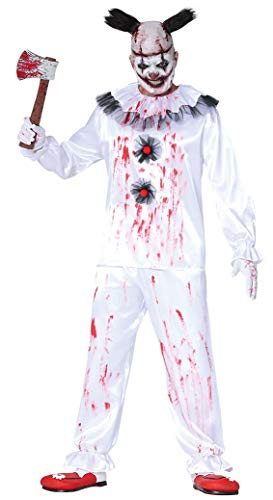 Fiestas Guirca Clown Clown Mörder Kostüm für Verkleidung Horror Halloween Mann