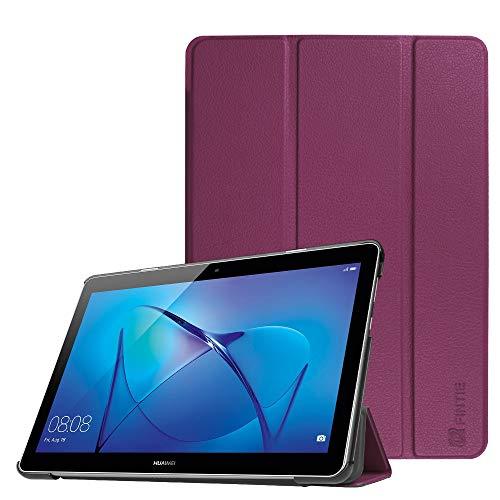 Fintie Hülle Hülle für Huawei Mediapad T3 10 - Ultra Dünn Superleicht Flip Schutzhülle mit Zwei Einstellbarem Standfunktion für Huawei MediaPad T3 (9,6 Zoll) 24,3 cm Tablet-PC, Lila
