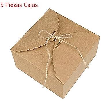Caolator Lote de 5 cajas para pasteles, de papel de estraza, para decoración, bombones, golosinas, pasteles, chocolate, etc., caja de regalo: Amazon.es: Bricolaje y herramientas
