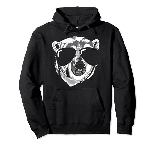 Gafas de sol Arctic Animal Cool Polar Bear Funny Polar Bear Sudadera con Capucha