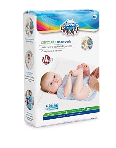 Canpol Babies CB78002U - Pack de 10 empapadores desechables