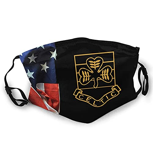 Face Mask Glasgow Celtic Vintage Shield Double-Sided Printed Dust Mask Scarf Reusable Black