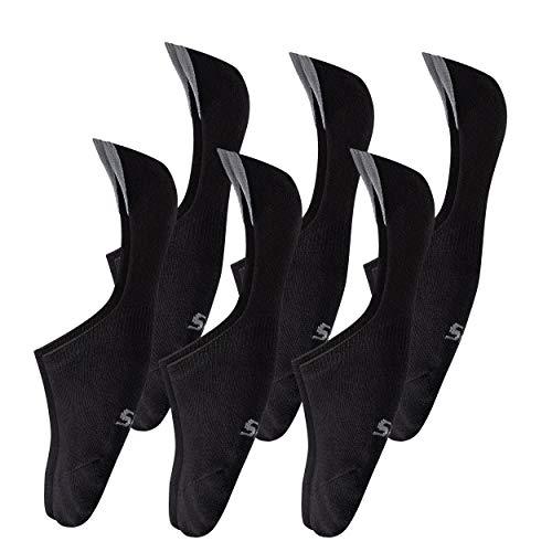 Teenloveme 6 Paia Calzini Fantasmini da Uomo Calze Invisibili Salvapiede in Cotone Uomo Uomo Sport Performance Trainer Calze con taglio basso