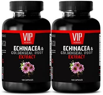 Immune Support mg Dietary San Francisco Mall Supplement Goldenseal Ro New item Echinacea -