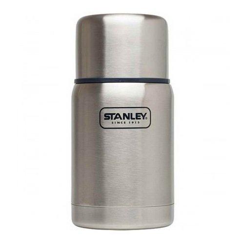 Stanley Adventure Vakuum-Speisebehälter 0.7 L, Stainless, 18/8 Edelstahl, mit Becher, Auslaufsicher, Food Container Thermobehälter Lunchbox