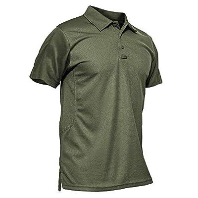 MAGCOMSEN Polo Shirts for Men Short Sleeve 3 Buttons Golf Shirts for Men Tactical Shirts Combat Shirts Work Shirts Golf Shirts Fishing Shirts for Men