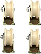 LYQQQQ (4 stks) U-vormige groefwiel Nylon Type Track Wiel Plastic Enkele katrol Bewegende Deur Rijden Roestvrij Staal Groo...