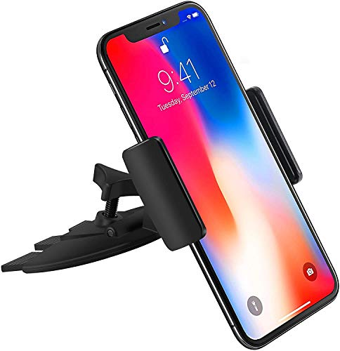 i-Tronixs Universal Phone Holder CD Slot Car Mount with Three-Side Grips and One-Touch Design Quick Installation (Compatible with Honor 20 Pro)