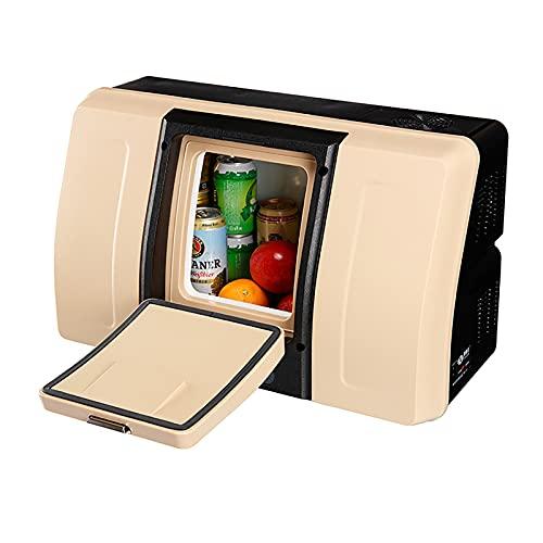 JUNKUN Refrigeradores para automóvil Mini refrigerador de 18 l para Conducir, Viajar, Pescar, al Aire Libre -12 / 24V DC Mini refrigerador Principal