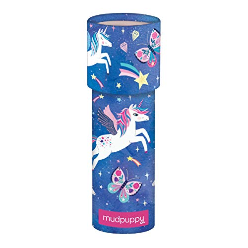 """Mudpuppy Unicorn Magic Kaleidoscope – 6.5"""" Tall with 2.25"""" Diameter – Colorful Kaleidoscope for Kids with Colorful Artwork, Ideal for Ages 3-8 – Kids Toy Made of Matte-Finish Board Material"""
