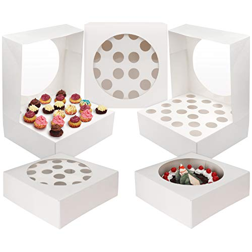Kurtzy 5 PC Cupcake Boxes - Cupcake Holder 28.5 x 28.5cm Almacena...