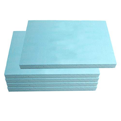 Hellery 5 Stück Leichtschaumplatte blau - Doppelseitige Schaumplatte Bastelplatte für DIY Modellbau, Landschaft, Diorama Basis