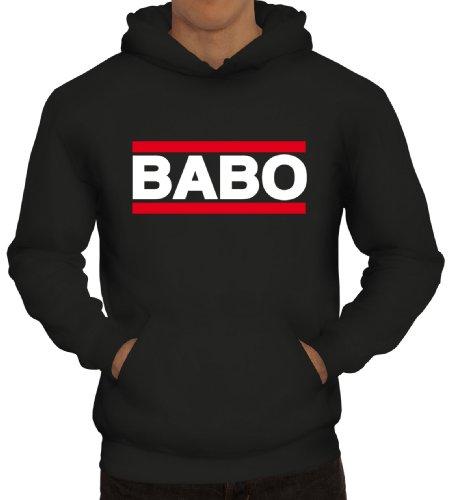 Shirtstreet24, BABO Tag, Boss Anführer Chef Herren Kapuzen Sweatshirt - Pullover Hoodie, Größe: L,Schwarz