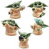 CYSJ 5 PCS Adornos de Star Wars Decoración de Pasteles,Star Wars Figura De Acción Bobble La Muñeca del Coche Interior Accesorios Adornos para Regalo de niños