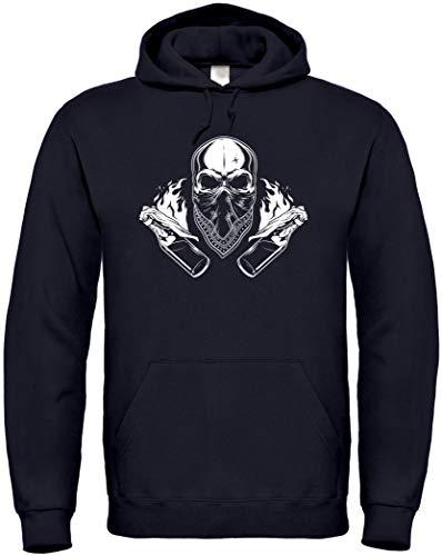 Hoodie Ultras Skull S bis 5XL (L, Schwarz)