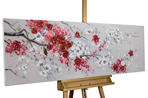 KunstLoft® Acryl Gemälde 'Unvergängliche Blüten' 150x50cm handgemalt Leinwand Bild