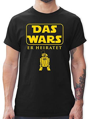 JGA Junggesellenabschied - Das Wars JGA Er Heiratet - L - Schwarz - L190 - Tshirt Herren und Männer T-Shirts