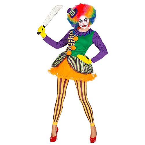 Widmann-Evil Joker Costume Donna, Multicolore, (M), 02852