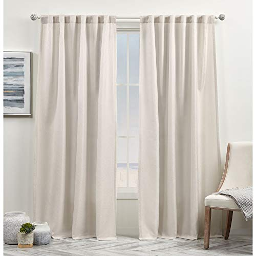 Exclusive Home Curtains Yara Light Filtering Hidden Tab Top Curtain Panels, 54x96, Sand