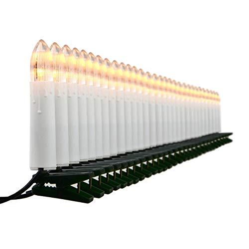 30er LED Lichterkette Weihnachtsbaumbeleuchtung für Innen Christbaumkerzen XMAS
