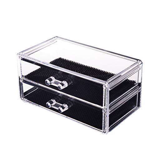 Frcolor – 2 camadas de joias e cosméticos para armazenamento de maquiagem