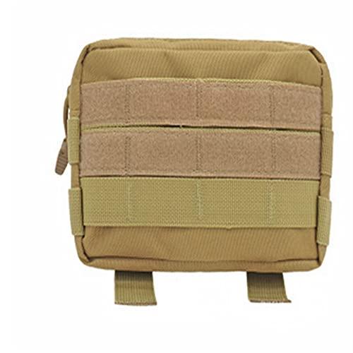 Bolsa de Cintura táctica Militar al Aire Libre Multifuncional EDC Molle Herramienta con Cremallera Paquete de la Cintura de la Cintura del Accesorio Banda Colgante (Color : Khaki)