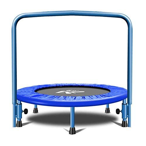 Trampoline Mini Adult Fitness trampoline met verstelbare U-bar Stability Handle.Max gewicht 150kg, HIIT Workout trampoline en overdekking,leilims