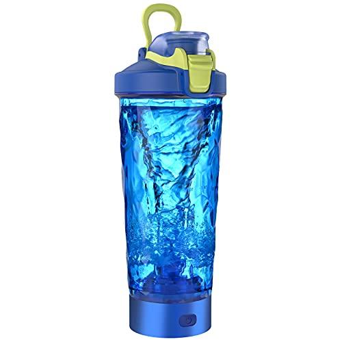 Blackube Proteína eléctrica shaker,100% libre de BPA,Tritan,20 oz, Electric Vortex Mixer,Recargable,Electric Blender,Adecuado para personas fitness-Blue