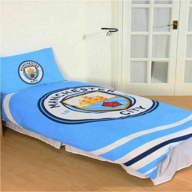 Manchester City Official Licensed Single Duvet Cover Set (Reversible)