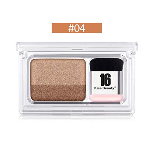 2 in 1 Eye Shadow Lidschatten Palette Mit Puff Professionelles Makeup Revolution, Mattschimmer+Pigmentierte Hochpigmentierte Eyeshadow Make-up-Palette