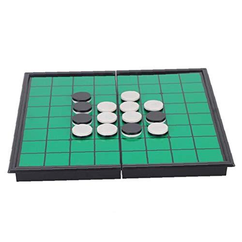 RRunzfon Othello tragbare Falten Othello Spiel Reversi Othello Strategie-Brettspiel GreenEasy Brettspiel