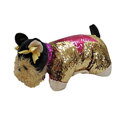 Doggie Star C-03-DS kussen Yorkshire - Yorky. goud en roze.