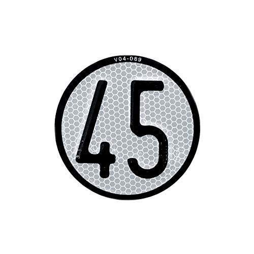 Autodomy Placa Disco de Velocidad 45 Km/h V4 para Quad y ATV Homologada Reflectante