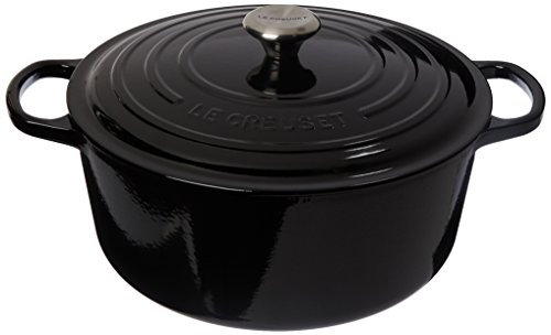 Le Creuset Signature Enameled Cast-Iron Round French (Dutch) Oven, 9-Quart, Black