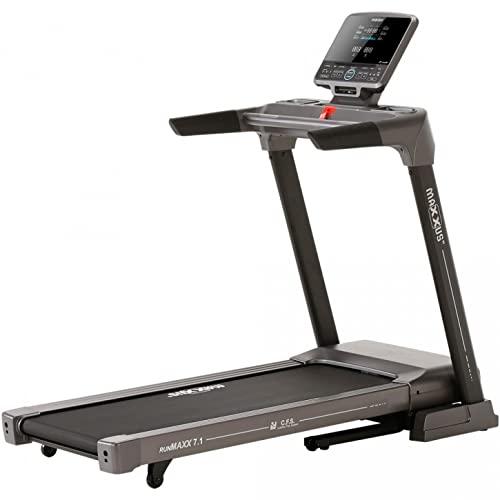 MAXXUS Laufband RunMaxx 7.1 - Klappbar, Elektrisch, 2,5 Motor, bis 18 km/h, 11 Trainingsprogramme, 31 Steigung, APP Steuerung, LCD-Display, Bluetooth, Dämpfungssystem - Heimtrainer, Treadmill