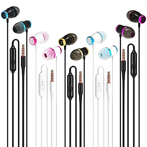 Wired Earbuds Headphones with Microphone 5 Pack, Noise Isolating in-Ear...