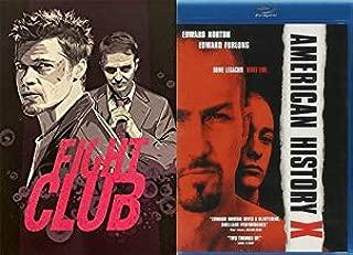 Crazy Edy, Edward Norton Masterpieces: Fight Club 10 Year Anniversary W/ Limited Edition Pop Art Slipcover (Blu-Ray) + American History X (Blu-Ray) Bundle Brad Pitt David Fincher