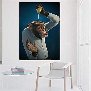 Peinture sans Cadre Moderne Affiche de Singe de Citron et Impression Murale Art Toile Art..