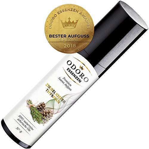 Saunaaufguss Duft Zirbelkiefer Thymian Fichte – 100% ätherische Öle – Premium Aufguss Konzentrat (100ml) – Natürliches Aufgussmittel, naturreine Saunaaufgüsse