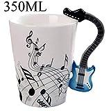 BonZeaL Guitar Mug Blue 3D Coffee Mugs Teacup Birthday Gifts for Girlfriend Friend